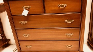 3 + 2 Drawer Mahogany Chest