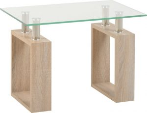 Milan Lamp Table Sonoma Oak
